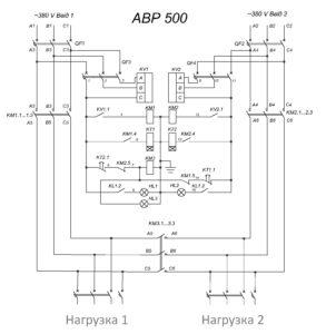 Автоматический ввод резерва АВР 500